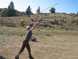 Trying an Atlatl